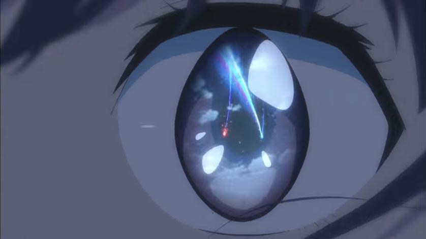 君の名は_予告2_三葉の瞳に映る彗星