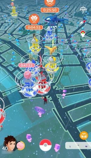 雨の渋谷ゲーム画面
