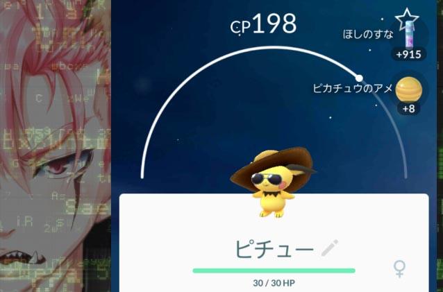 ポケモンGO_プレイ日誌_1画像用_麦わらピチュー