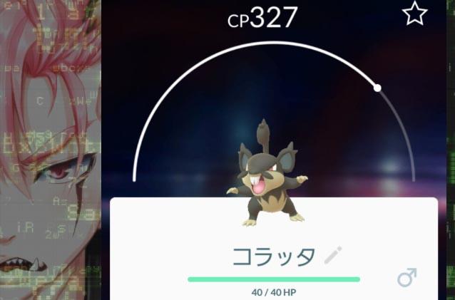 ポケモンGO_プレイ日誌_1画像用_アローラコラッタ
