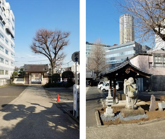 正覚寺-山門と布袋像