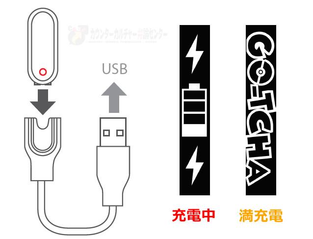 オートキャッチ取扱説明図-充電方法r