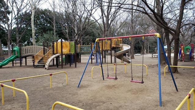 井草森公園-北口-木製遊具