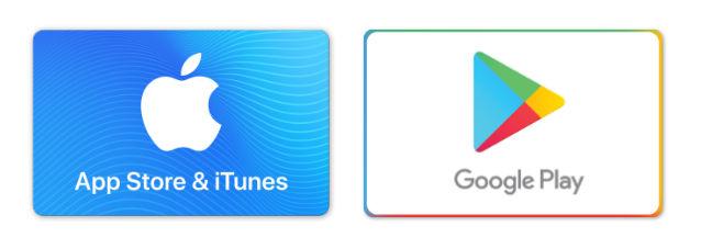 iTunesギフトカード-Google Play ギフトカード