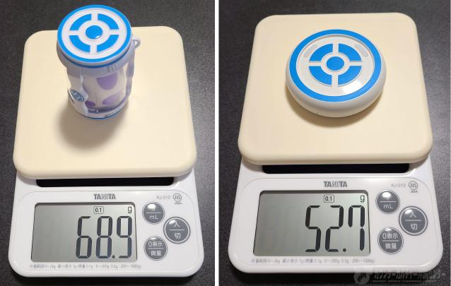 キャッチモンGOとデュアルキャッチモンの重さ比較